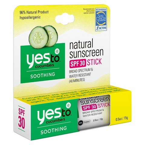 Yes To Cucumbers Natural Sun Stick SPF 30