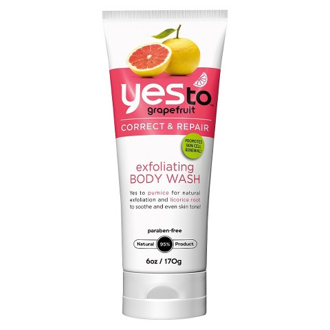 Yes To Grapefruit Exfoliating Body Wash - 6 oz