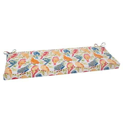 Outdoor Bench Cushion Birds Tar