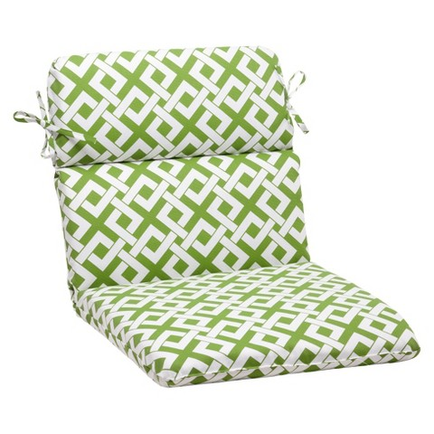 Outdoor Rounded Chair Cushion - Boxed In Geometric
