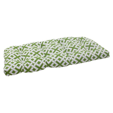 Outdoor Wicker Loveseat Cushion - Boxed In Geometric