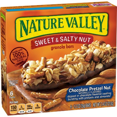Nature Valley Sweet & Salty Chocolate Pretzel Nut Granola Bars 6 pk