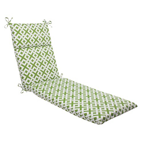 Outdoor Chaise Lounge Cushion - Boxed In Geometric