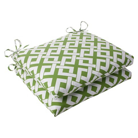 Outdoor 2-Piece Square Seat Cushion Set - Boxed In Geometric