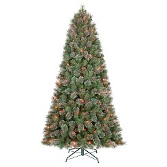 7.5' Prelit Virginia Pine Christmas Tree - Multi lights