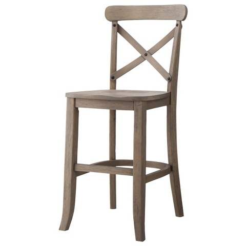 French Country X Back 24 Counter Stool Hardwood Target