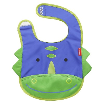 Skip Hop Zoo Little Kids & Toddler Tuck-Away Bib, Dinosaur