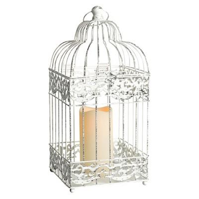 Birdcage Lantern - White