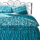 Xhilaration™ Ruffle Comforter Set - Turquoise (Full/Queen)