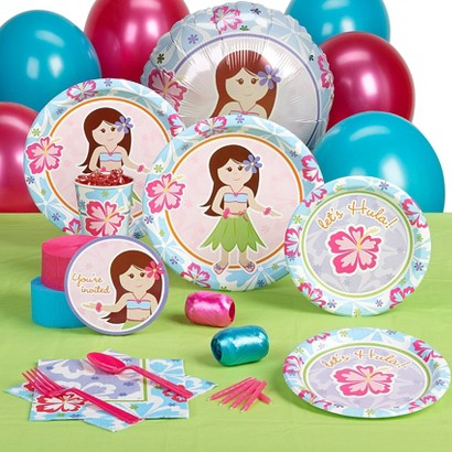 Hawaiian Girl Standard Party Pack for 8