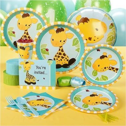 Giraffe 1st Birthday Standard Party Pack for 8