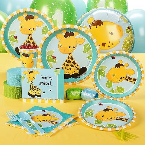Giraffe 1st Birthday Standard Party Pack for 16