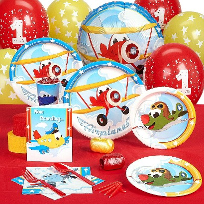 Airplane Adventure 1st Birthday Standard Party Pack for 8