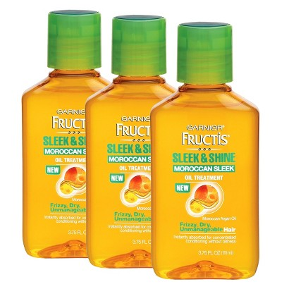 Garnier® Fructis® Sleek & Shine Moroccan Sleek Oil Treatment For Frizzy, Dry, Unmanageable Hair