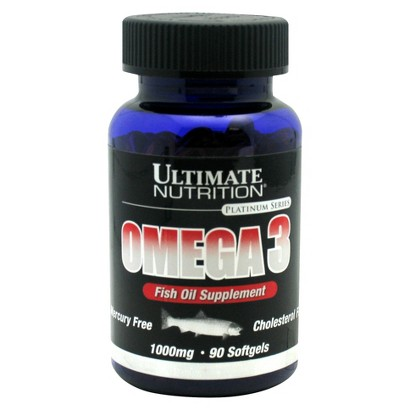 Ultimate Nutrition Omega 3 1000 mg Fish Oil  Softgels - 90 Count
