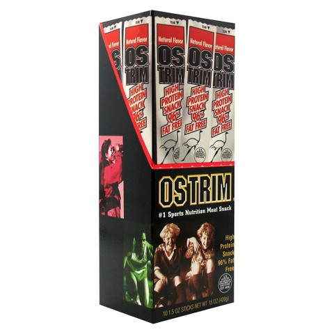 Ostrim Sports Nutrition Natural Flavor Meat Snack Sticks - 10 Count (1.5 oz each)