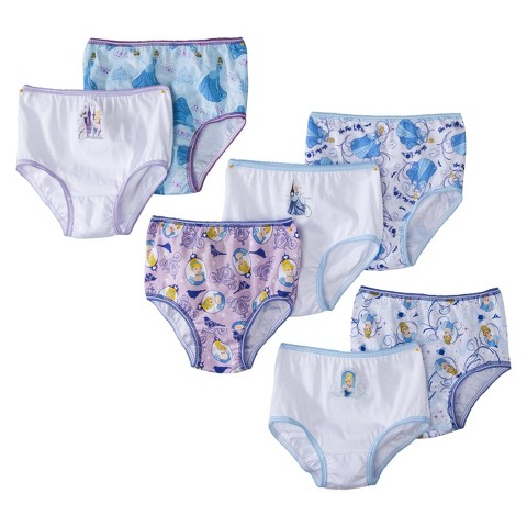 Disney® Toddler Girls' 7 Pack Cinderella Briefs