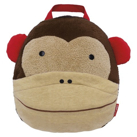 Skip Hop Zoo Toddler Travel Blanket with Pillow - Monkey