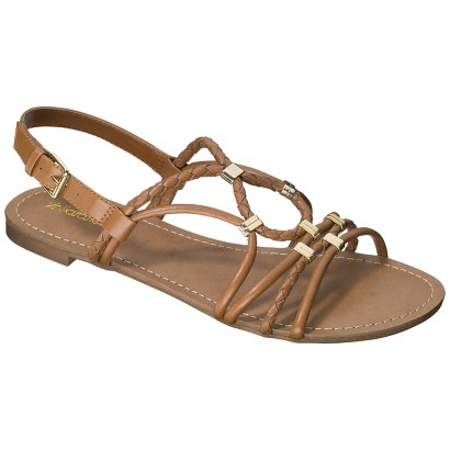 Women's Xhilaration® Dessa Braided Strappy Flat Sandal - Assorted Colors