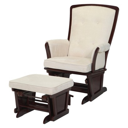 Simmons Madisson Elite Glider and Ottoman - Black Espresso