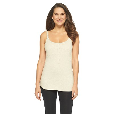 Women's Nursing Henley Cami Heather Oatmeal - Gilligan & O'Malley®
