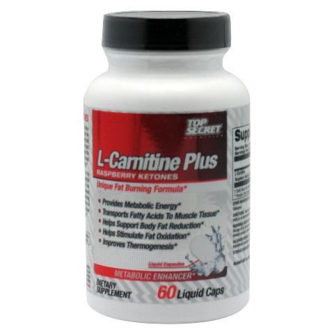 L-Carnitine Plus Raspberry Ketones Metabolic Enhancer Liquid Caps - 60 Count