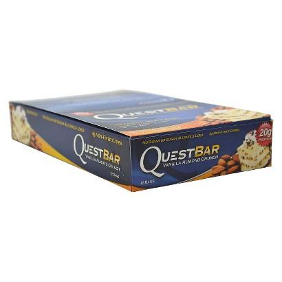 Quest Bar Vanilla Almond Crunch Protein Bars - 12 Count (2.12 oz each)