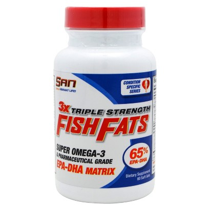San Fish Fats Super Omega-3 Dietary Supplement Softgels - 60 Count