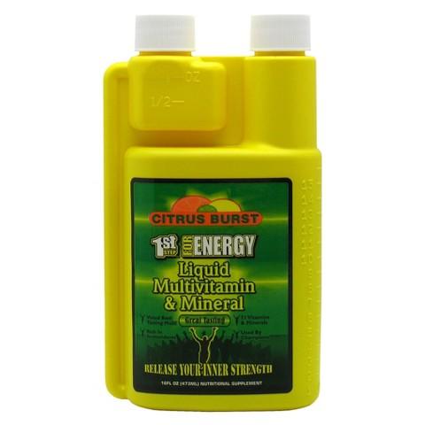 1st Step For Energy Citrus Burst Liquid Multivitamin - 16 fl oz