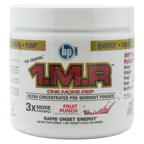 1.M.R™ Fruit Punch Pre-Workout Powder - 4.9 oz