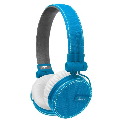 iLuv ReF™ Deep Bass Canvas On-Ear Headphones - Light Blue