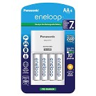 """Panasonic """"Advanced"""" Individual Battery Charger w/eneloop  Rechargeable Batteries - 4AA White"""