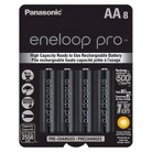 Panasonic eneloop pro AA New High Capacity Ni-MH Pre-Charged Rechargeable Batteries - 8AA