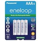 Panasonic eneloop AAA New 2100 cycle Ni-MH Pre-Charged Rechargeable Batteries - 4AAA