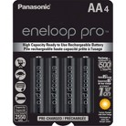 Panasonic eneloop pro New High Capacity Ni-MH Pre-Charged Rechargeable Batteries - 4AA