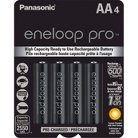 Panasonic eneloop pro AA High Capacity, Ni-MH Pre-Charged Rechargeable Batteries - 4 Pack