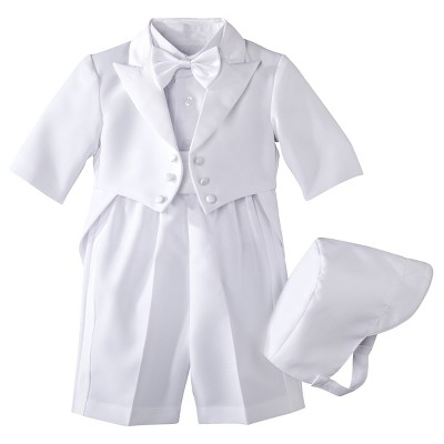 Infant Boys' Authentic Tux with Tails - White 6-9 M