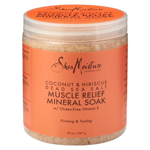 SheaMoisture Coconut & Hibiscus Dead Sea Salt Muscle Relief Mineral Soak - 20 oz