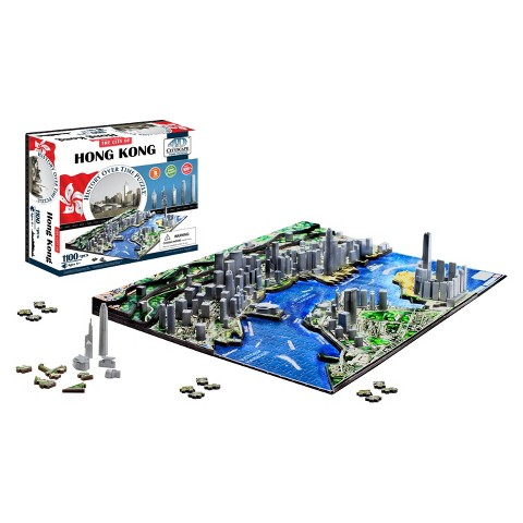4D™ Cityscape The City of Hong Kong Time Puzzle