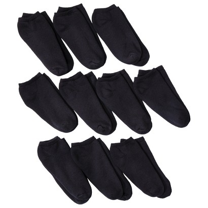 Fruit of the Loom® Women's 10 pack Low Cut Socks - Extended Sizes & Assorted Colors