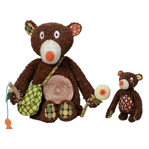 Woodours Daddy and Baby Bear Interactive Playset