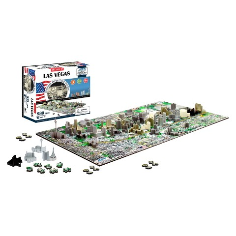 4D™ Cityscape The City of Las Vegas Time Puzzle