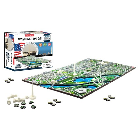 4D™ Cityscape The City of Washington D.C. Skyline Time Puzzle