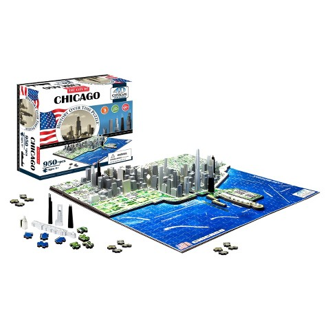 4D™ Cityscape The City of Chicago Time Puzzle