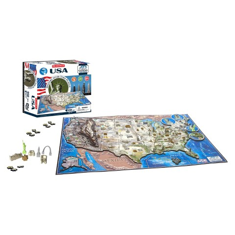 4D™ Cityscape The Country of USA Time Puzzle