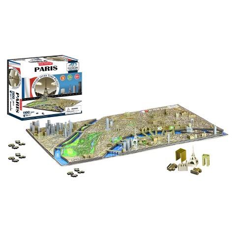 4D™ Cityscape The City of Paris Time Puzzle