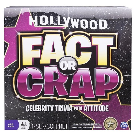 Hollywood Fact or Crap Celebrity Edition Trivia Game