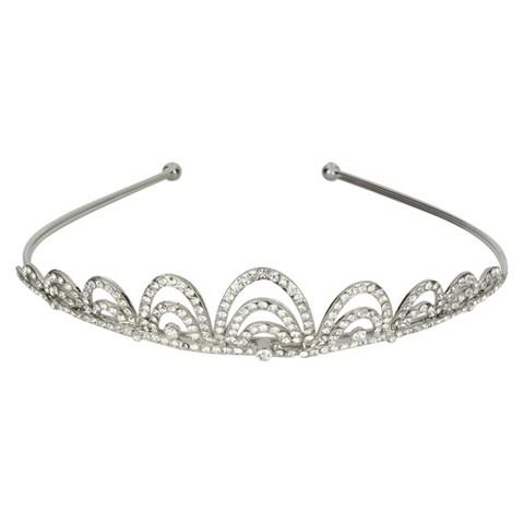 Crystal Arches Tiara - Silver
