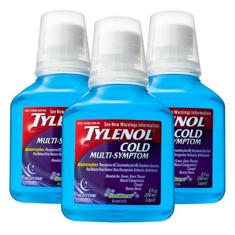 Tylenol Nighttime Cold Multi Symptom Liquid
