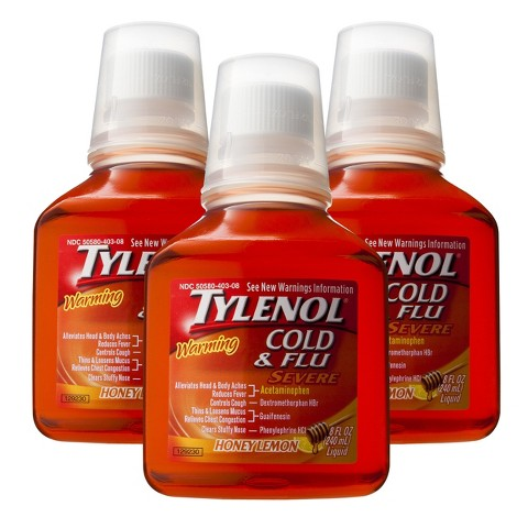 Tylenol Honey Lemon Cold and Flu Severe Liquid